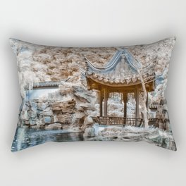 Chinese Garden Infrared Rectangular Pillow