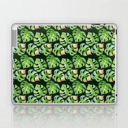 Tropical leaves seamless pattern, exotic monstera jungle print Laptop & iPad Skin
