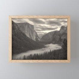 Fog in The Valley Framed Mini Art Print