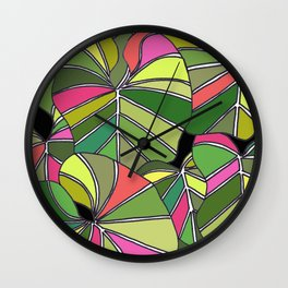 Psychedelic Summer Wall Clock