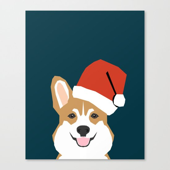 Corgi Christmas  santa claus costume for cute welsh corgi pet dog lover gift for the corgi person Canvas Print