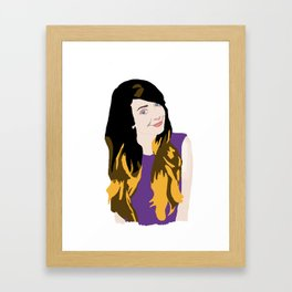 Zoella Digital Drawing Framed Art Print