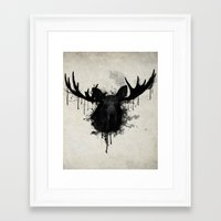 moose Framed Art Prints featuring Moose by Nicklas Gustafsson