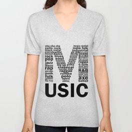 Music Genres Unisex V-Neck
