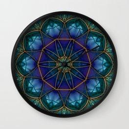 Moonstone Mandala Wall Clock