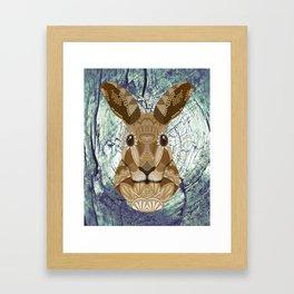 Ornate Hare Framed Art Print