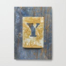 Letter Y Metal Print