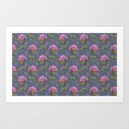 Burdock Flower Pattern Art Print