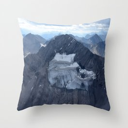 Mountains From Above Throw Pillow