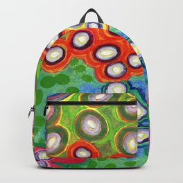 Colorful Circles Swimming in Green Backpack