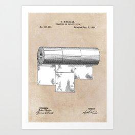 patent art Wheeler Wrapping of toilet paper 1894 Art Print