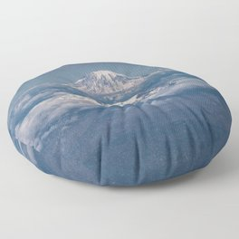Mount Adams Mt Rainier - PNW Mountains Floor Pillow