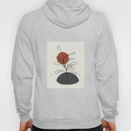Abstract Minimal Shapes Plants 06 Tropical Modern Illustration Drawing Pattern Texture Hoody