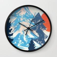 Pine & Sun Wall Clock