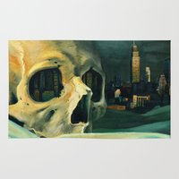 oil Area & Throw Rugs featuring Civilizations Oil Painting by Thubakabra