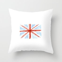 Flag of UK 10- London,united kingdom,england,english,british,great britain,Glasgow,scotland,wales Throw Pillow