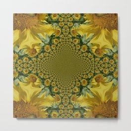 Sunflowers Galore.... Metal Print