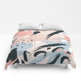 Pastel abstraction I Comforters