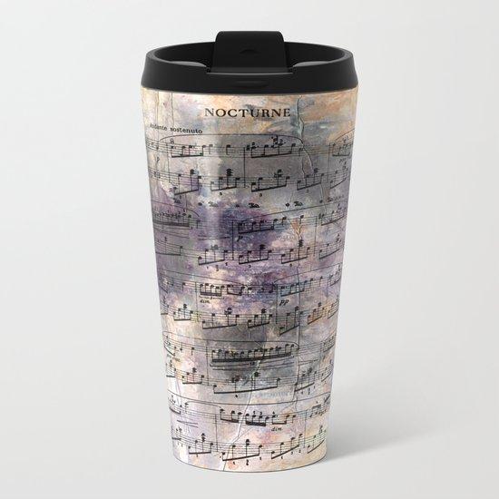 Chopin - Nocturne Metal Travel Mug