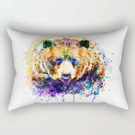 Colorful Grizzly Bear Rectangular Pillow