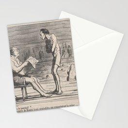 Quelle nouvelle dans le journal , from Croquis d'Été, published in Le Charivari, August 5, 1859,Augu Stationery Cards