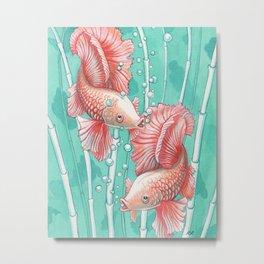 Ballerina Fish Metal Print