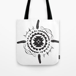 Native Amrican STEM Mandala Southwestern Tote Bag