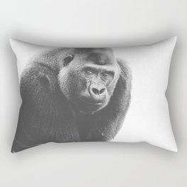 Silverback Gorilla (black + white) Rectangular Pillow