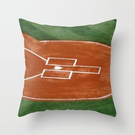 Baseball Field - Illustration Graphic Design Throw Pillow