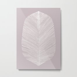 Feather soft pink Metal Print