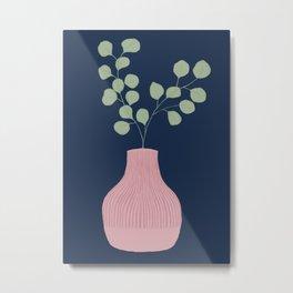 Still Life - Eucalyptus branch in a vase Metal Print