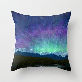 Arctic Aura - Painting Throw Pillow