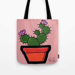 Cute Prickly Potted Cactus Tote Bag