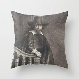 Rembrandt - Portrait of Dr. Ephraïm Bueno (1647) Throw Pillow