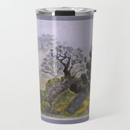 Reserve Langbiang in fog Travel Mug