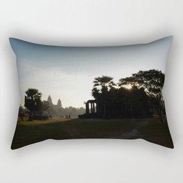 Sunrise at the Temple Rectangular Pillow