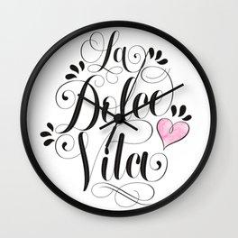 Sweet life Wall Clock