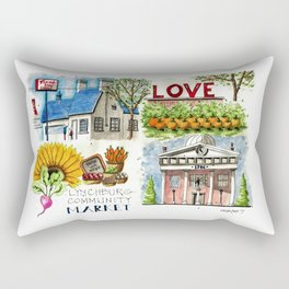 Lynchburg, Virginia - 4 Scenes Around Town Rectangular Pillow
