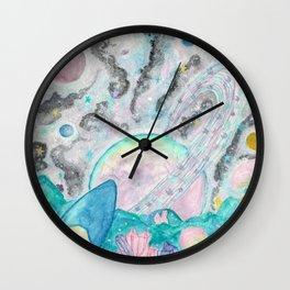 Mushroom Crystal Planet Wall Clock