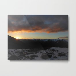 Sunset on the Southern Alps Metal Print