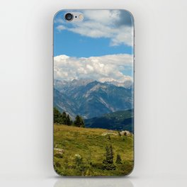 panorama cloudy alps serfaus fiss ladis tyrol austria europe iPhone Skin