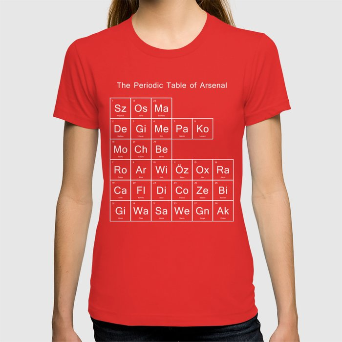 Periodic table of arsenal t shirt by jamestan14 society6 urtaz Gallery