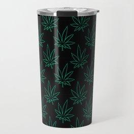 Weed Pattern 420 (outlines) Travel Mug