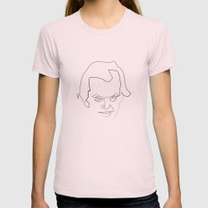 One line Shining MEDIUM Womens Fitted Tee Light Pink