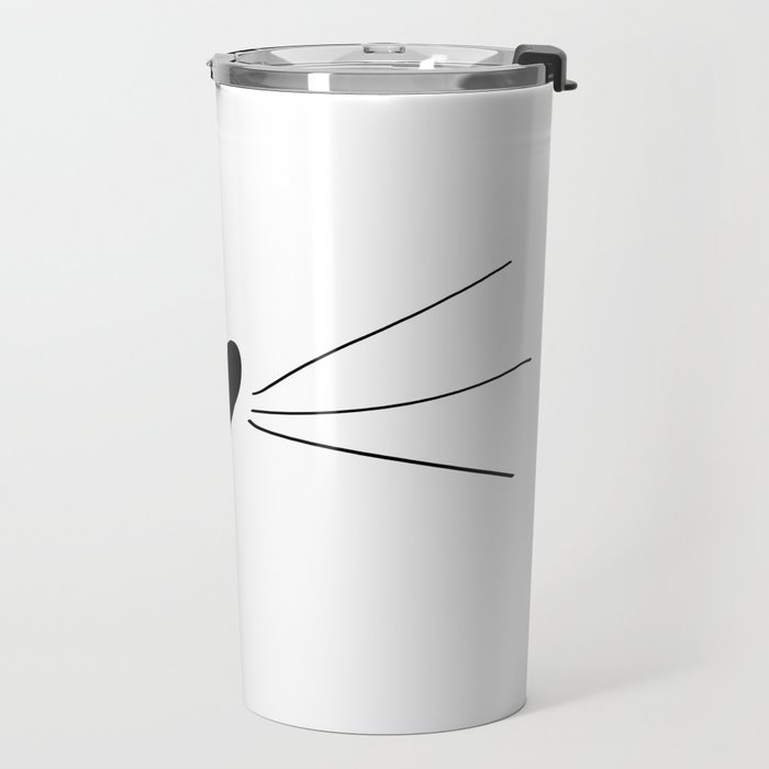 Cat Heart Nose & Whiskers Travel Mug