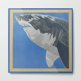 Fool Like You For Breakfast- Great White Shark Metal Print
