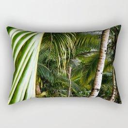 Tropical Paradise Beach Escape Island - Panama travel & palms landscape - Fine Art Print colorful 1 Rectangular Pillow