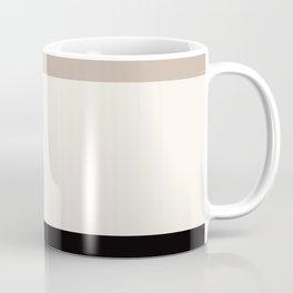 black tan cream bold stripes Coffee Mug