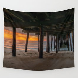 Beach Sunrise Fishing Pier Ocean Nags Head Outer Banks North Carolina OBX Print Wall Tapestry