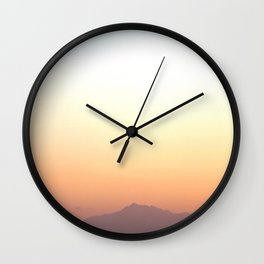 Cloudless Sunset Wall Clock